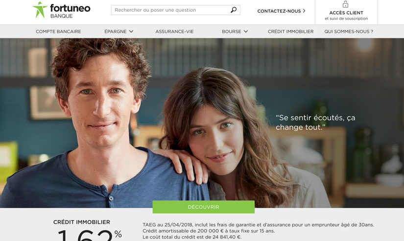 Fortuneo n'a pas facturé de frais à la moitié de ses clients